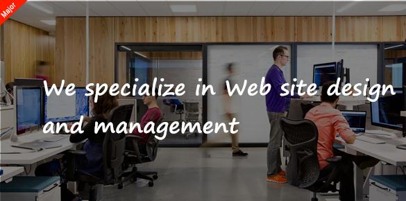 我们擅长于网站设计和管理